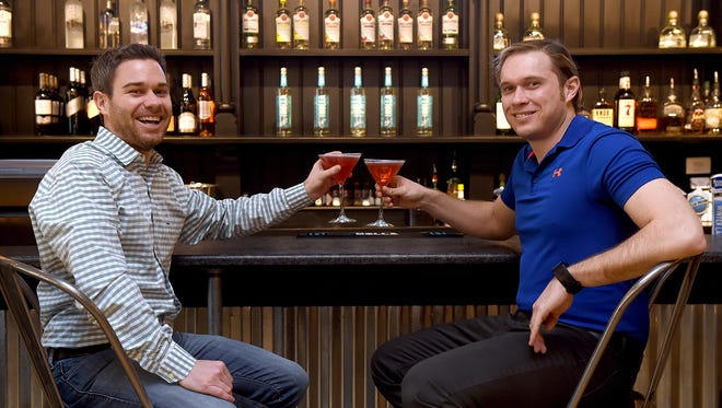 Patrick Shorb, left, and Matt Glaser, both of York, have created Holla, a vodka company that is being served in three states and is expected to be in PA Fine Wine & Liquor stores this spring.