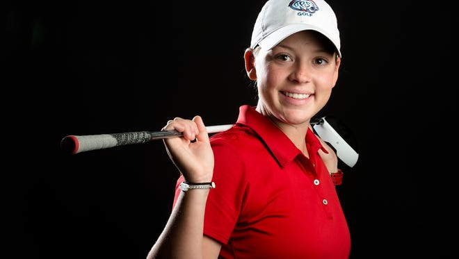 Trinity's Sophie Burks shares the 2017 All-Metro golfer of the year award with Park Crossing's Brooke Sansom.