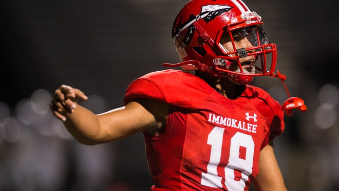 Immokalee High School's R.J. Rosales has been on fire this season, especially in the playoffs for the Indians.