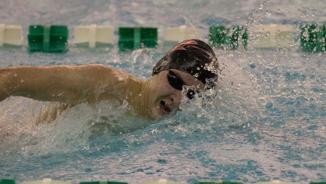 Keegan Sheiss won the 200-yard freestyle at Saturday's Zionsville Sectional.