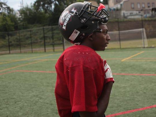 Dayvon Robinson returned to the football field last