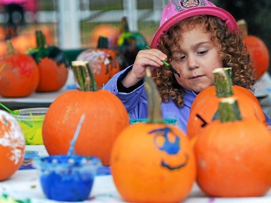 Guests can enjoy a half-mile roundtrip walk along the Seven Valleys section of the Heritage Rail Trail Saturday, where' they'll see lighted and decorated pumpkins and other fall decorations.