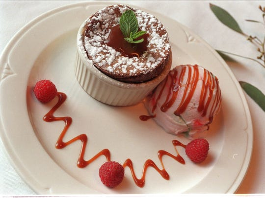 Molten Lava Cake, a favorite dessert at The Hill restaurant in Grosse Pointe Farms, Mich. Photographed Jan. 9, 2001.