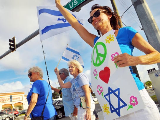 Kathy Mardirosian come out to rally for Israel  showing
