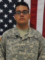 Kevin J. Rodriguez, an infantryman with Company A,