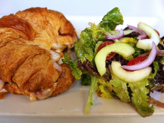 A turkey croissant was a tasty brunch offering at the
