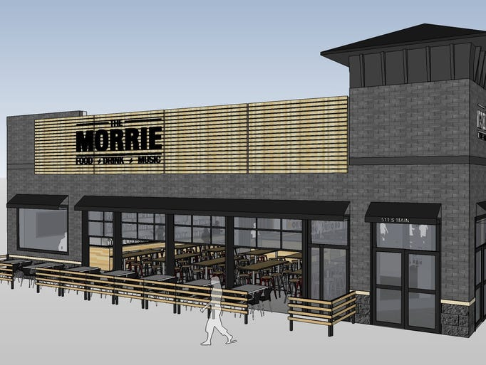 An architectural rendering of the Morrie, a new roadhouse-style
