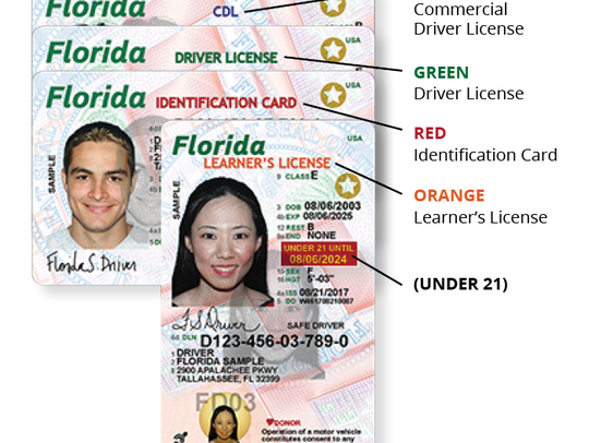 The new Florida driver's license has a variety of fraud-protection