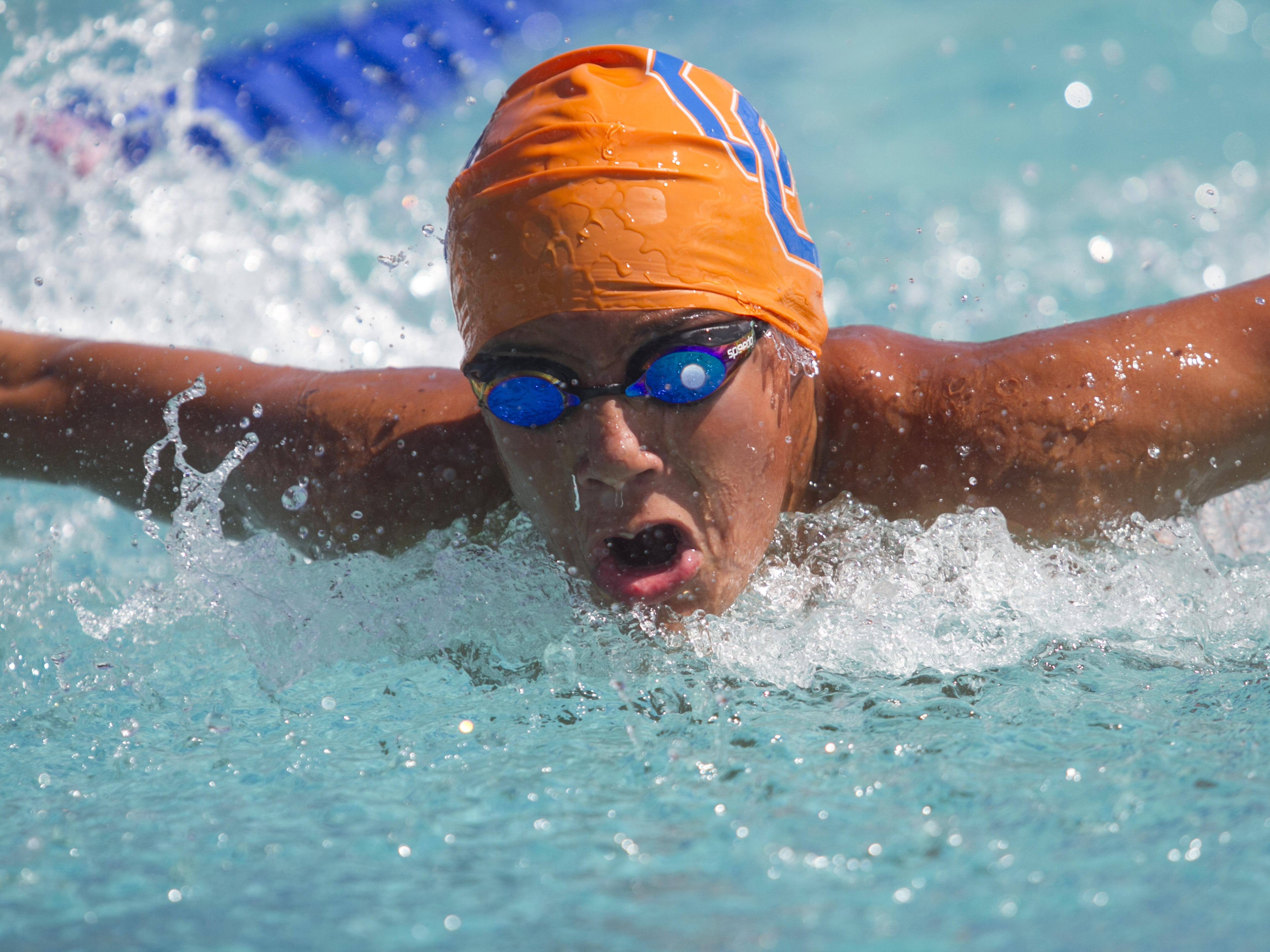 Steven Rua of Cape Coral swims in the Boys 200 Yard IM at the LCAC Championships on Thursday.