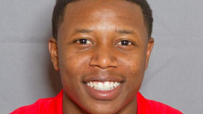 This undated photo released by New Mexico Athletics, shows football player SaQwan Edwards. Edwards is being held without bond after he was booked lApril 29, 2014, into an Albuquerque jail on suspicion of criminal sexual penetration.