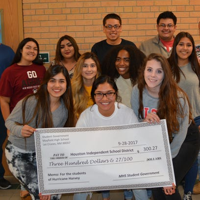 Mayfield High School Student Government collected donations