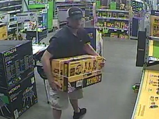 Suspect caught stealing from Prattville store in August.