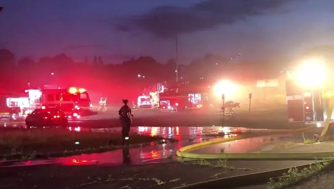 Fire crews respond to rec center fire in Mt. Healthy