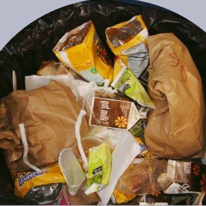 School lunch waste.