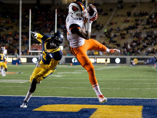 Jordan Villamin led the Beavers in receiving yards and touchdown catches last season.