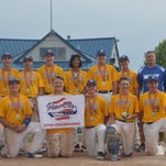 The 14-and-under South Farmington Blues baseball team has compiled a remarkable record of 32-0 this season. The Blues have won every tournament attended and are in first place in the Kensington Valley Baseball Softball Association. They are listed 12th in the USSSA Michigan AA power rankings. The team members are (kneeling, left to right) Tommy Walsh, Nick Pearen, Jake Swriple, Jake Kelbert, Eric Johnson, Jake Powers, (standing, left to right) manager Chris Kelbert, Parker Kent, Jake Szumlanski, Gunnar Lombard, Nolan Mohr, Ben Ward, Greg Wiacek, coach Eric Johnson and coach Jim Pearen.