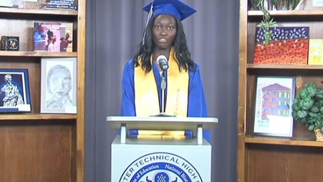 Candace Agyemang, class president, Worcester Technical High School