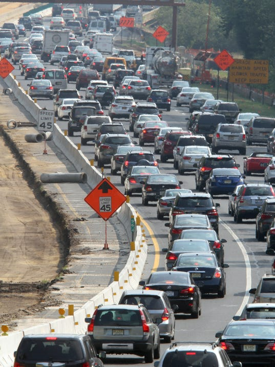 Highways Clog Up With Jersey Shore Traffic
