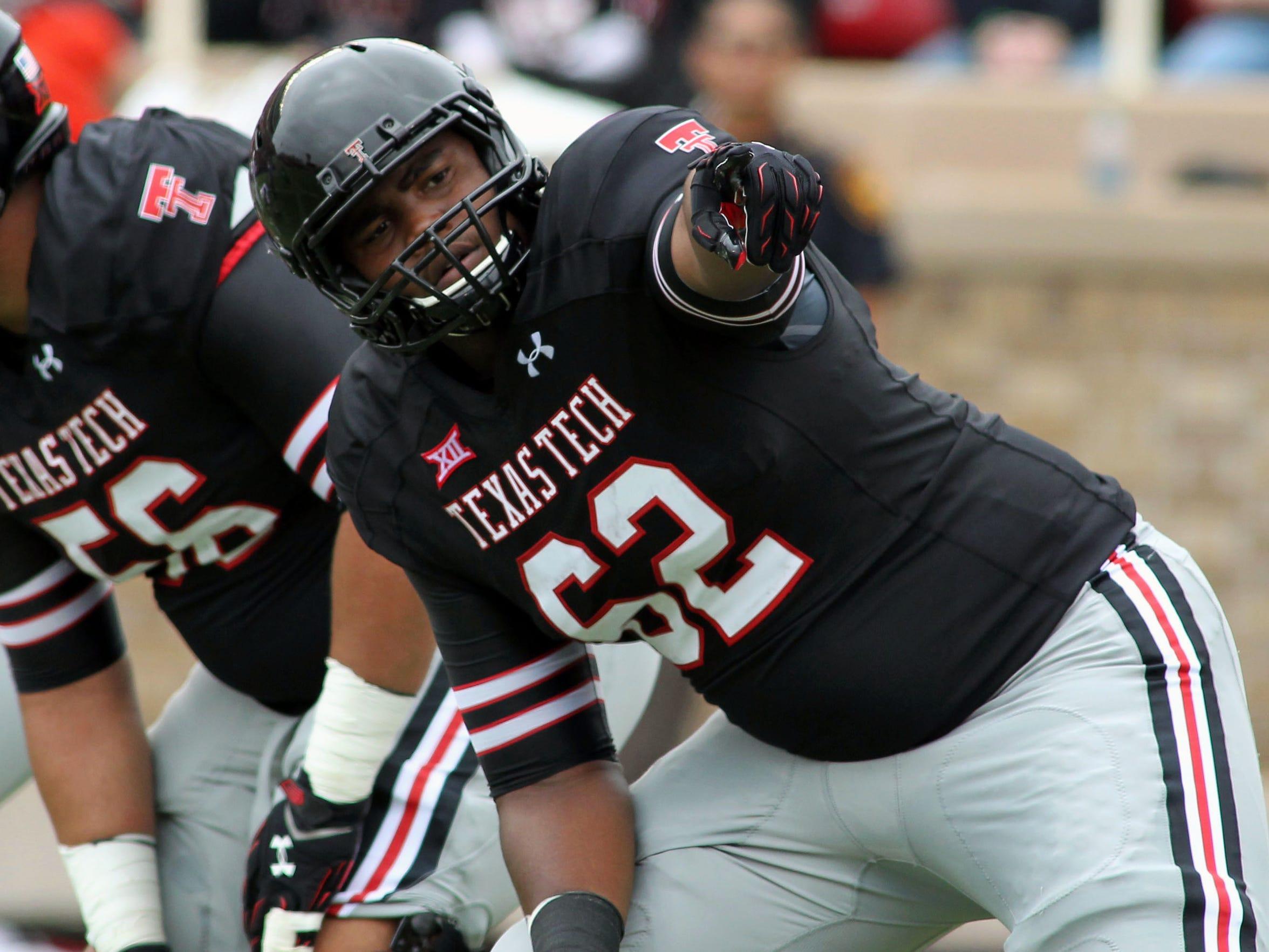 Texas Tech offensive tackle Le'Raven Clark