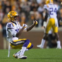 Greedy Williams is LSU's stand-up cornerback, who looks like Chris Rock
