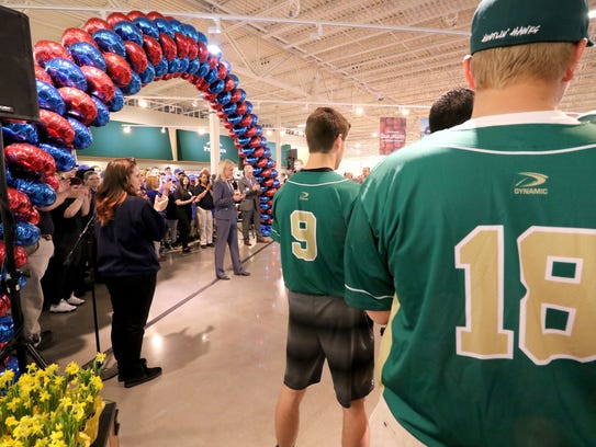 The Greenfield High School baseball team was on hand