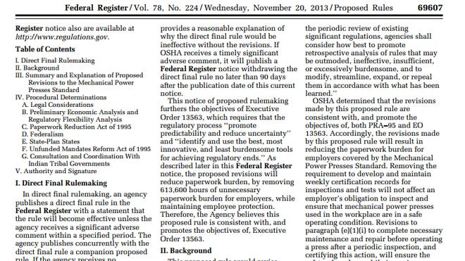 Federal agencies publish dozens of pages of public notices every day in the Federal Register. Some of them are incomprehensible.
