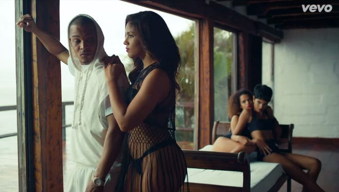 """This screenshot shows a scene from T.I.'s latest single, """"No Mediocre."""""""