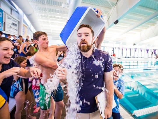 EDGE Swim Club's Head Coach Caleb Hall-Potvin gets