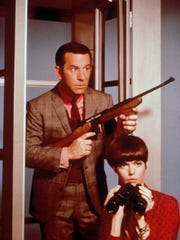 Agent Maxwell Smart, played by Don Adams, and 99, played