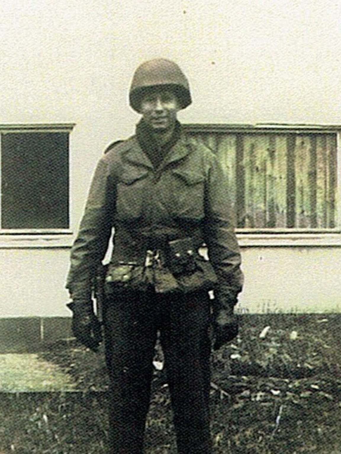 Paul Stegall during his military service.