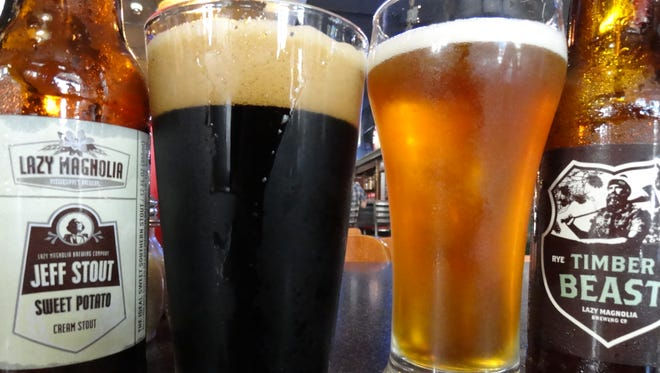 Lazy Magnolia's Jefferson Stout, left, and Timber Beast.