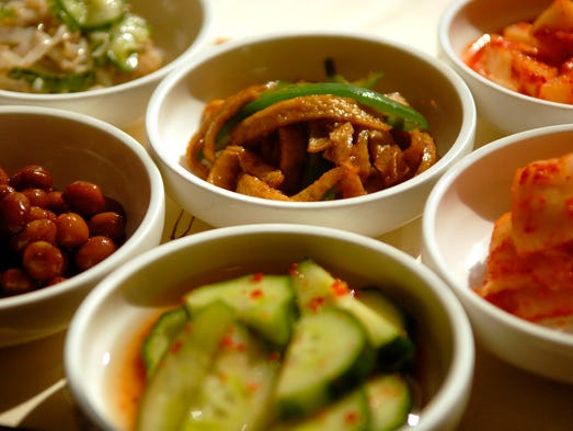 The Banchan from Charim Korean Restaurant comes with