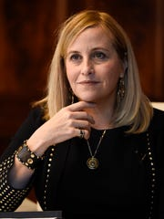 Mayor Megan Barry answers questions from The Tennessean's