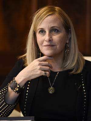 Mayor Megan Barry answers questions during an interview Monday, Nov. 27, 2017, in Nashville.