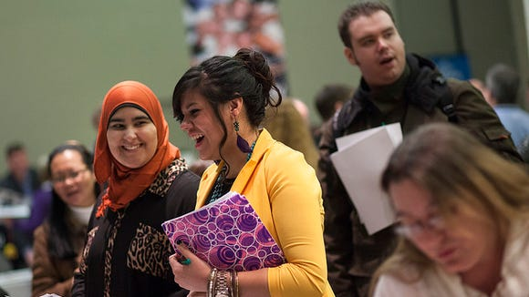 A career fair at the College of DuPage. (Photo: Flickr)