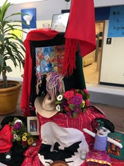 This altar honors the United Farm Workers in Texas.