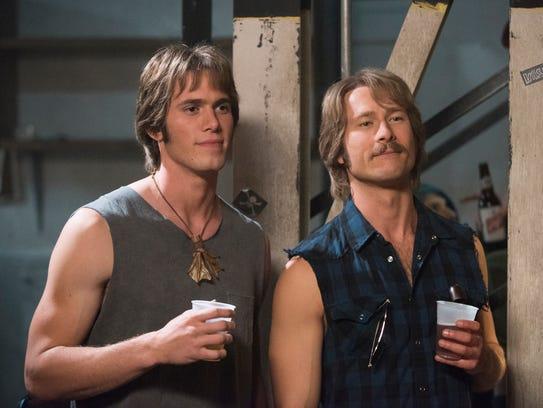 Blake Jenner (left) and Glen Powell star in 'Everybody