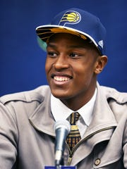 Pacers took Myles Turner with 11th pick in the 2015 NBA draft.