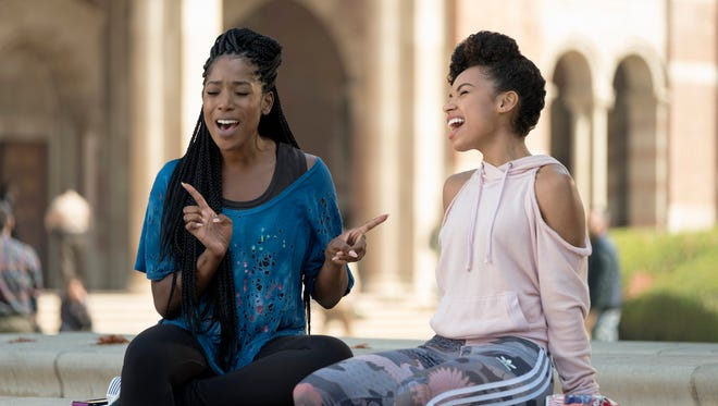 'Dear White People': Ashley Blaine Featherson and Logan Browning assess the state of racial relations at Winchester University.