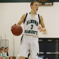 Almond-Bancroft junior Dylan Bunders leads the team in scoring at 17.1 points a game and is second in rebounding after earning second team All-Central Wisconsin Conference 10 honors as a sophomore.