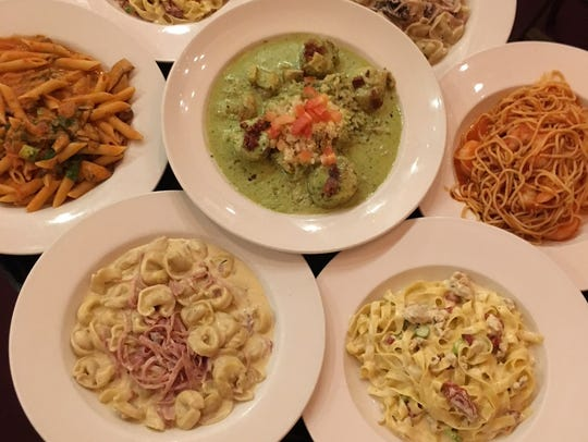 Matteo's pasta dishes, including cheese tortillini