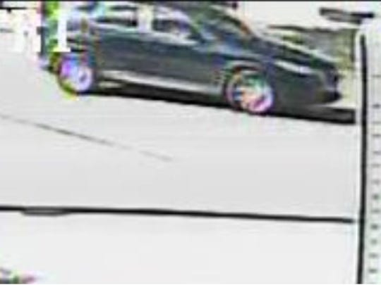 Fort Myers police are looking for this vehicle they say was involved in a shooting on Gardenia Street.