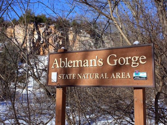 Ableman's Gorge State Natural Area is on Highway 136 just north of Rock Springs. There's a small developed trail at the area.