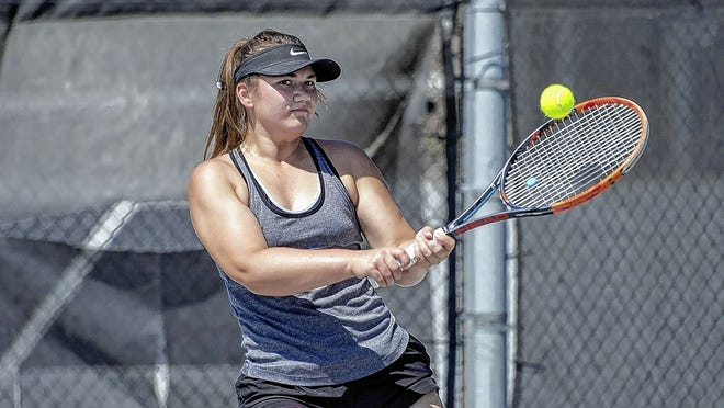 Senior Corinna Moesle is the only returnee for the North girls tennis team and 18th-year coach Brian Hoff. The Panthers opened their season Aug. 12 with a 5-0 home win over Worthington Kilbourne.