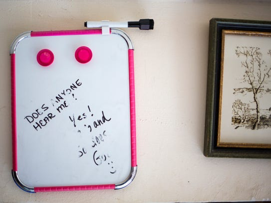 A message written on a white board in Rodney and Lori