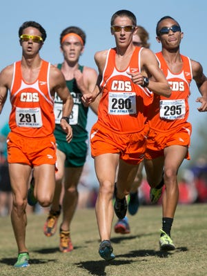Tempe Corona del Sol's Marcus Wheeler (295, right), finished third at last year's Division I state boys cross country meet and is the top returner for Corona this year.