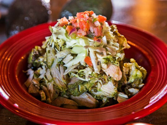 Chicken Taco filling from LA SALA Tequila Cantina in Chandler, Ariz. January 24, 2017.