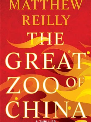 """This book cover image released by Gallery Books shows """"The Great Zoo of China,"""" by Matthew Reilly. (AP Photo/Gallery Books)"""