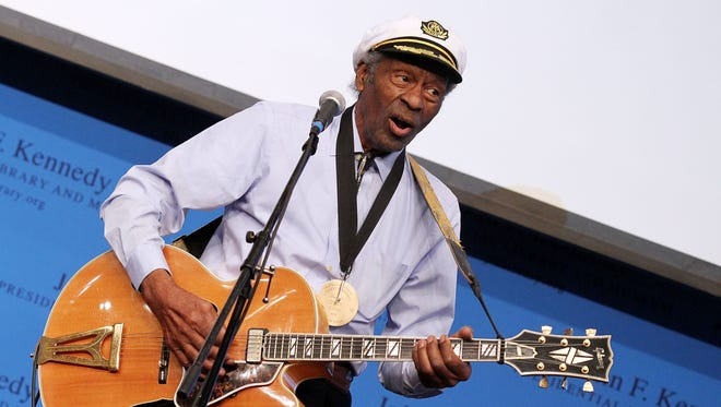 Chuck Berry, seen in 2012,  died in St. Louis on March 18, 2017, at age 90.