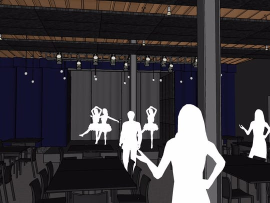 The plans for Noce call for a raised stage overlooking